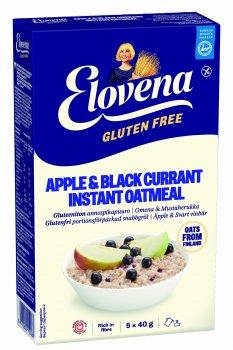 Овсянка Elovena с яблоком и черной смородиной без глютена 200 г (6411200112488)