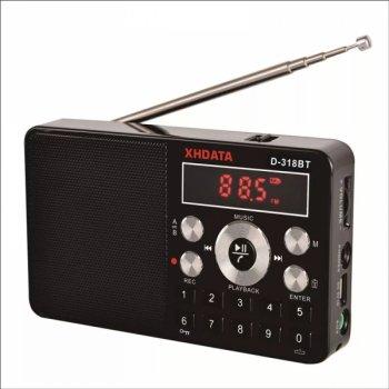 Радиоприемник D-318BT цифровое радио с Bluetooth/USB-SD плеером/запись/спикерфон