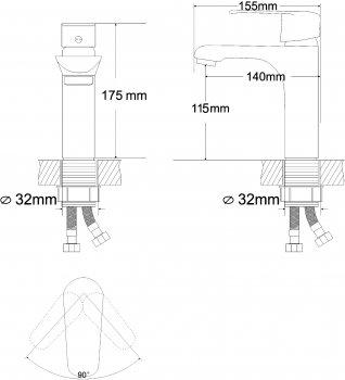 Смеситель для раковины RJ Fly RBZ084-1W