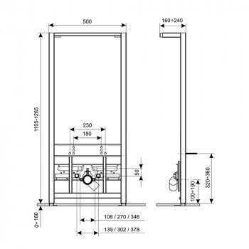 Інсталяція для біде Qtap Nest QT0155706B