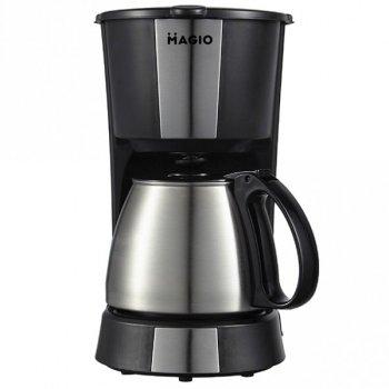 Капельная Кофеварка для кофе Mellov MG-961a (MAGIO) для дома Фильтрационная Black