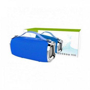 Бездротова потужна bluetooth колонка з функцією Connect plus TWS 1+1 Sound System H36 Hopestar Портативна з Вологозахистом IPX6 і функцією Зарядки пристроїв Синя
