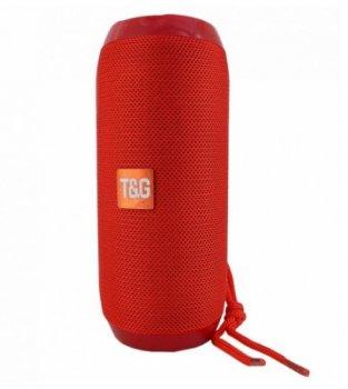 Бездротова портативна Bluetooth стерео колонка T & G 117 RED