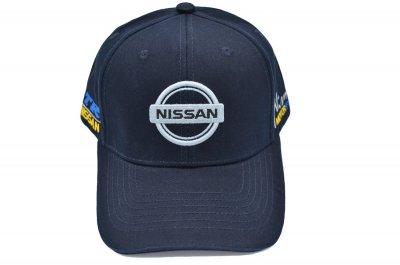 Кепка Sport Line c автомобильным логотипом Nissan темно-синяя (S 0919-202)