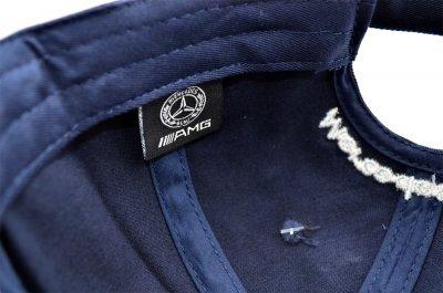 Кепка Sport Line c автомобильным логотипом Mercedes-Benz темно-синяя (S 0919-174)