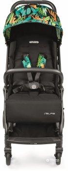 Прогулочная компактная коляска Peg-Perego Selfie Jaguars Черная с тропическим рисунком (IP22000000JL24RO01)