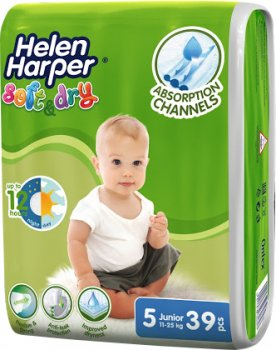 Підгузки Helen Harper Soft&Dry Junior 11-25 кг 39 шт. (5411416060154)