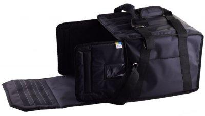 Термо сумка Dolphin для піци горизонтального завантаження на липучках, на 5-6 коробок 45*45. Чорна