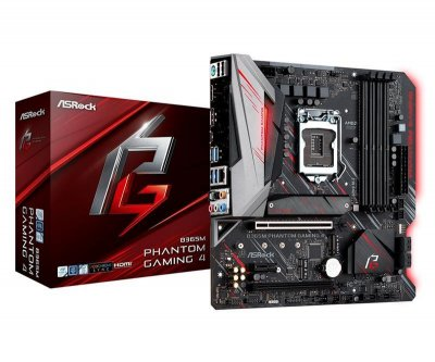 Материнська плата AsRock B365M Phantom Gaming 4 (s1151v2, Intel B365, PCI-Ex16)