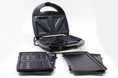 Електричний прижимний гриль вафельниця сендвічниця мультимейкер Crownberg CB 1075 700-800 Вт