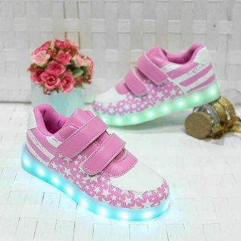 Кросівки світні дитячі Pink STAR