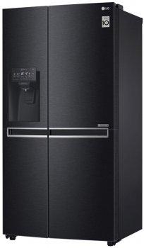 Холодильник LG GC-L247CBDC SbS /179 см/ 601 л/ А+/Total No Frost/лінійний компр./диспенсер/чорний матовий