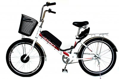 Электровелосипед складной Formula SMART белый с красным 24 колесо 36В 350Вт 13Ач литий ионный аккумулятор