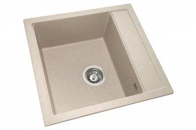 Кухонна мийка GRANADO Merida terra (0303) + сифон одинарний для кухонної мийки Nova