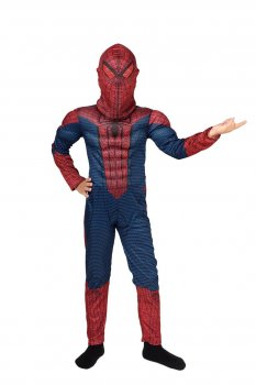 Костюм Человека - паука комбинезон с мышцами Рост 100-110 см