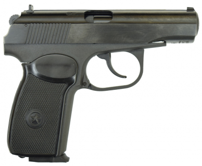 Пневматичний пістолет байкал мр658к(мр654к) черн. рук. blowback