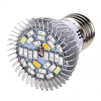 Фитолампа для растений светодиодная UKC E27, 28 LED, 8 Вт