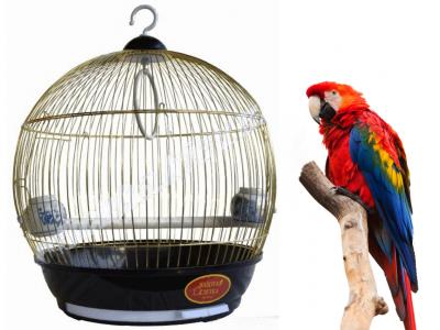 Клетка для птиц бочонок золото Золотая клетка для папугаев (0234720-De)