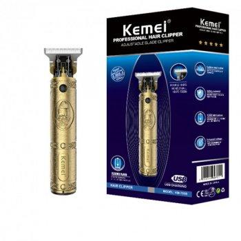 Машинка для стрижки волос и бороды Kemei KM-700B Original окантовочная профессиональная триммер для разной длины с 3 насадками