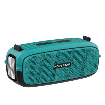 Портативна бездротова потужна bluetooth колонка Sound System A20 Pro Hopestar Оригінал 55ВТ з Вологозахистом IPX6 і функцією Зарядки пристроїв Блакитна