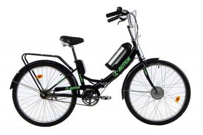 Электровелосипед складной E-motion с низкой рамой 36V 10Ah 350W черно-зеленый (21NCHZ)