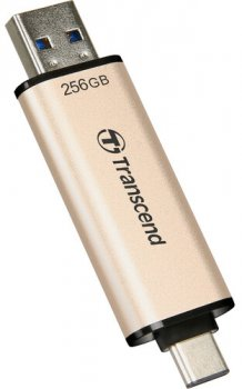 Transcend JetFlash 930C 256GB USB 3.2 / Type-C Gold-Black (TS256GJF930C)
