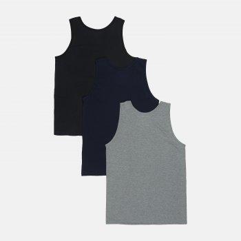 Майка (набор 3 шт) IlGranchio GT102 Серая/Синяя/Черная