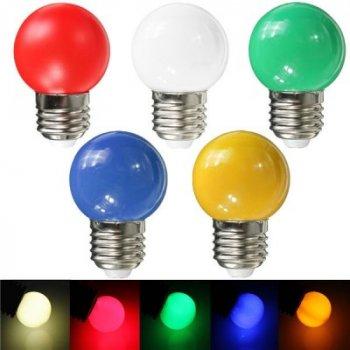 """Лампа світлодіодна G45 1,2 W E27 червоний кулька """"LEMANSO"""" LM705"""