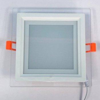 """LED панель 12W 540LM 4500K 85-265V квадрат+скло Монтана """"LEMANSO"""" LM1035"""