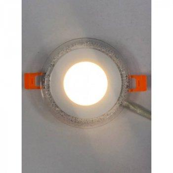 """LED панель 3+3W з RGB підсвіткою 350Lm 4500K 175-265V коло """"LEMANSO"""" LM1002"""