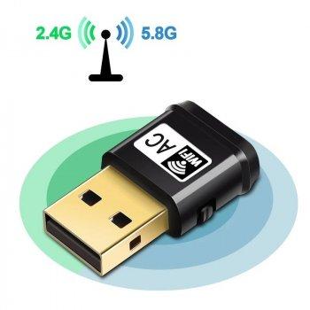 USB Wifi адаптер Chipal 433Мбит/сек Мбит/с двухдиапазонный 2.4GHz - 5GHz