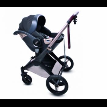 Дитяча Коляска 3в1 Shom Roberto Verino Elegance Midnight Black (Люлька + Прогулянка + Автокрісло) (від 0 до 3 років) Бежевий