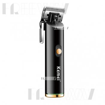 Машинка для стрижки волос и бороды аккумуляторная беспроводная профессиональная с 4 насадками Kemei IPX3 (KM-1892)