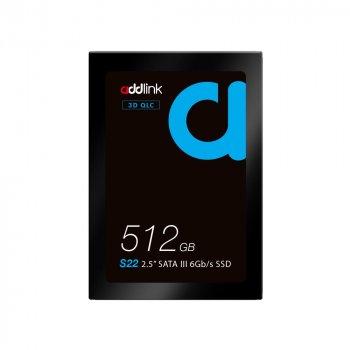 """SSD накопичувач AddLink S22 512GB 2.5"""" SATA III 6Gb/s QLC SSD (ad512GBS22S3S)"""