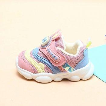 Кросівки для дівчинки з підсвічуванням Pink puzzle Hello Mifey Рожевий (57782)
