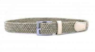 Детский плетеный ремень резинка NA 3 см для брюк светло-бежевый 75 см (NA111817)