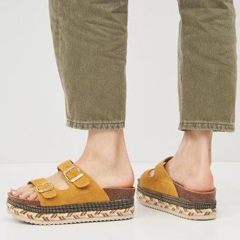 Сабо XTI Suede Ladies Sandals 49052-2466 Светло-желтые
