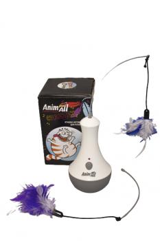 Игрушка-неваляшка для кота AnimAll CrazZzy Серая (4820224500478)