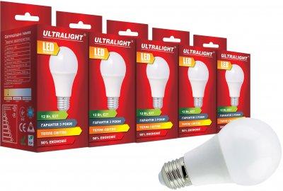 Світлодіодна лампа Ultralight LED A60 12W 3000K E27 (UL-51885) 5 шт.