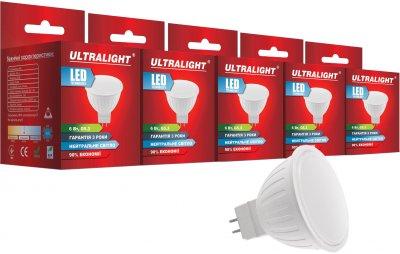 Світлодіодна лампа Ultralight LED MR16 6 W 4100 K G5.3 (UL-51896) 5 шт.
