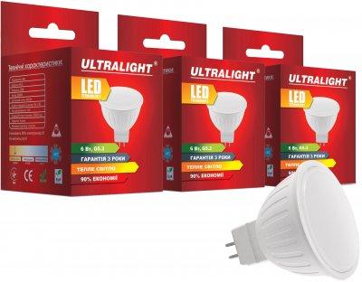 Світлодіодна лампа Ultralight LED MR16 6 W 3000 K G5.3 (UL-51897) 3 шт.