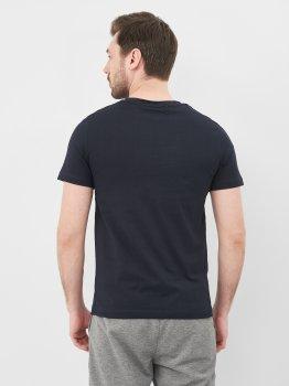 Футболка Calvin Klein Jeans 10565.1 Темно-синяя с оранжевым