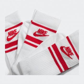 Носки Nike U Nk Crew Nsw Essential Stripe 3Pr CQ0301-102 Белый/Красный M