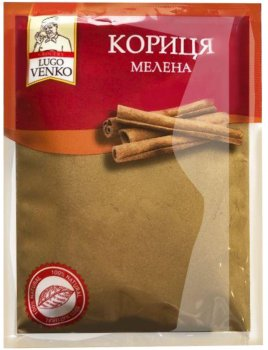 Упаковка корицы Lugo Venko молотой 45 г х 20 шт (8741830000725)