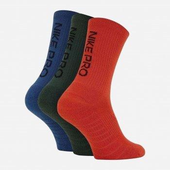 Шкарпетки Nike U Nk Everyday Max Cush Crew 3Pr — Pro SK0121-902 Чорний/Синій M