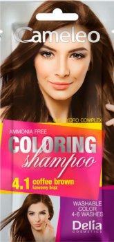 Шампунь оттеночный Delia Cosmetics Cameleo 4.1 Кофейно-коричневый 40 мл (5901350466094)