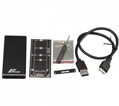 "Внешний карман Frime SATA HDD/SSD 2.5"", USB 3.0, Metal, Black (FHE200.M2U30)"