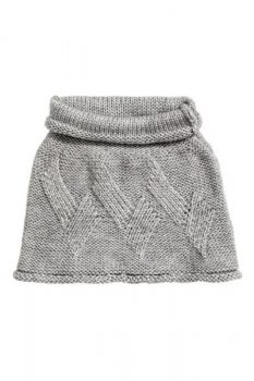 Ажурный шарф-труба H&M ONESIZE Серый меланж (0412578002)