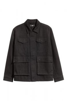 Куртка из хлопкового твила H&M Черный (0441130001)