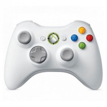 Бездротовий ігровий джойстик геймпад для Xbox 360 Білий (r-360)